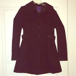 Peacoat with satin buttons